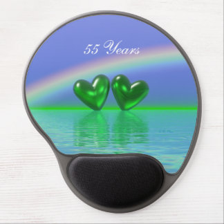 55th Anniversary Emerald Hearts Gel Mouse Pad