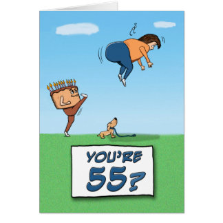 55th Birthday: A Kick in the Butt Card