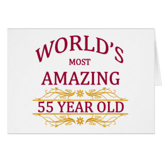 55th. Birthday Card
