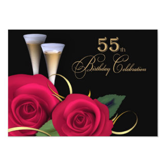 55th Birthday Celebration Custom Invitations