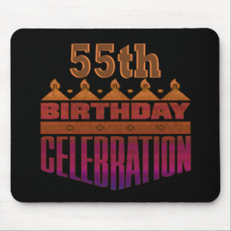 55th Birthday Celebration Gifts Mouse Pad