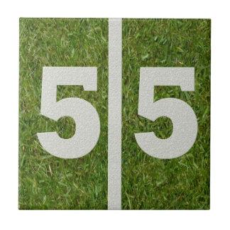 55th Birthday Football Customizable Tile