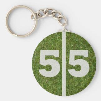 55th Birthday Party Favor Key Ring