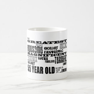 55th Birthday Party Greatest Fifty Five Year Old Basic White Mug