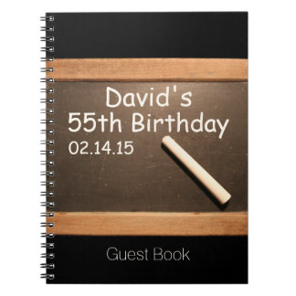 55th Birthday Party Personalized Guest Book