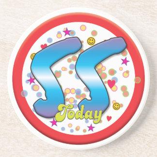 55th Birthday Today Beverage Coaster