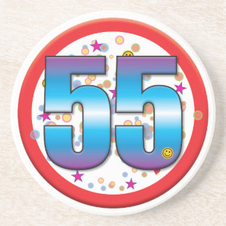 55th Birthday v2 Drink Coaster