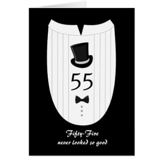 55th For Him Customizable Birthday Greeting Card
