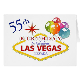 55th Las Vegas Birthday Card