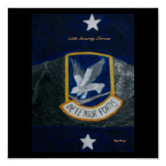 55th Security Forces Poster