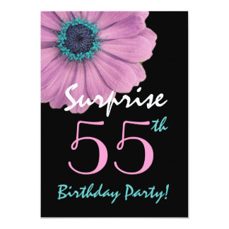 55th Surprise Birthday Pretty Pink Daisy Card