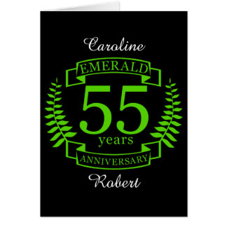 55th Wedding ANNIVERSARY EMERALD Card
