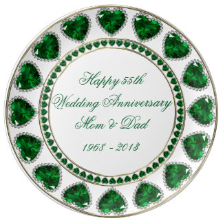 55th Wedding Anniversary Porcelain Plate