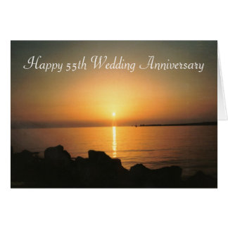 55th Wedding Anniversary Sunset Card