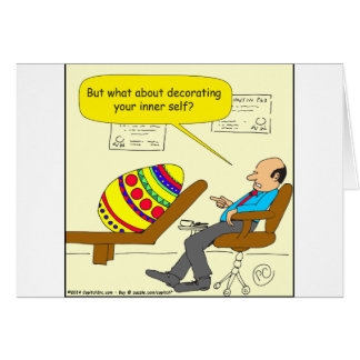 562 Easter egg inner self cartoon Greeting Card