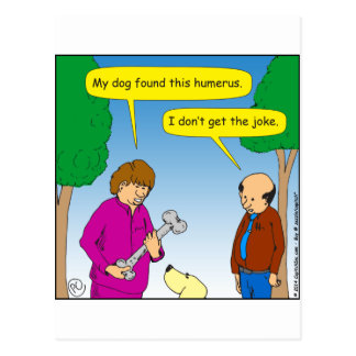 566 My dog found this humorous cartoon Postcard