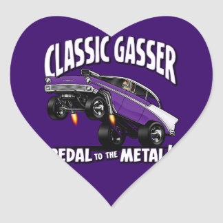 56' Gasser Flair Heart Sticker