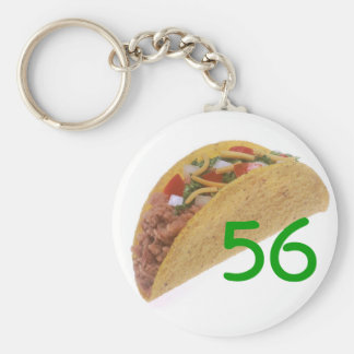 56 Tacos Basic Round Button Key Ring