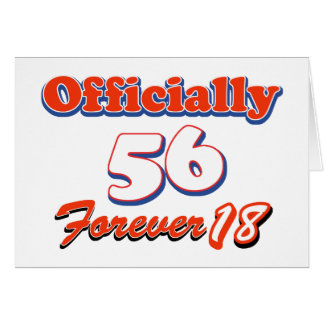 56 years old birthday designs card
