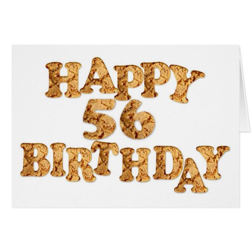 56th Birthday card for a cookie lover