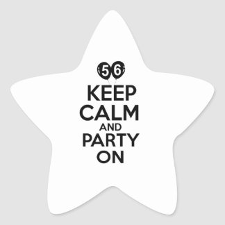 56th year old birthday designs star sticker