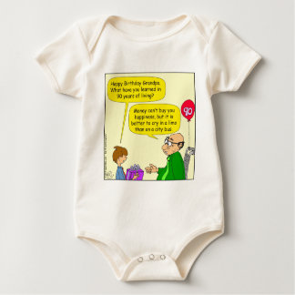 572 money cant buy you happiness cartoon baby bodysuit