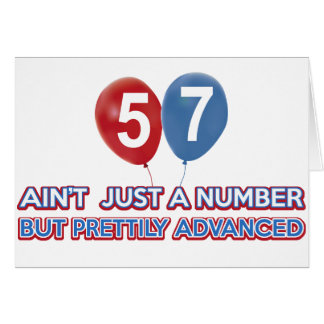 57 aint just a number greeting cards