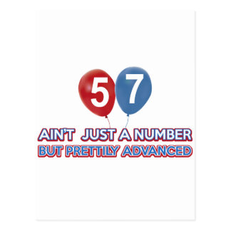57 aint just a number postcard