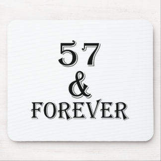 57 And Forever Birthday Designs Mouse Pad