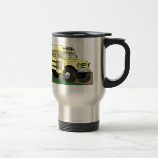 57 Chevrolet Off Road 4X4 School Bus Travel Mug