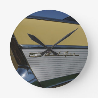 57' Chevy Bel Air Fin Horizontal Round Clock