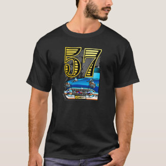 57 Chevy Car Cartoon T-Shirt