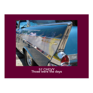 "57 CHEVY ""Those were the days"" Post Card"
