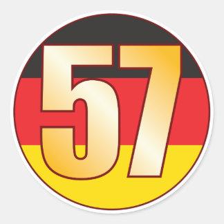 57 GERMANY Gold Classic Round Sticker
