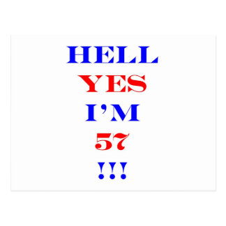 57 Hell yes! Postcard