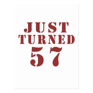 57 Just Turned Postcard