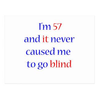 57 never gone blind postcard