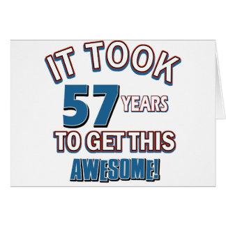 57 year old birthday designs card
