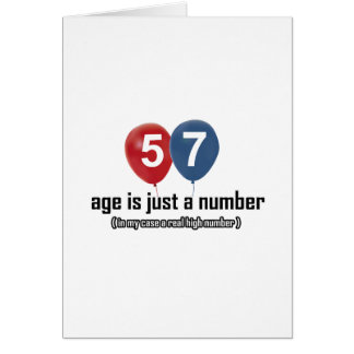 57 year old nothing but a number designs greeting card