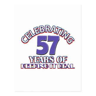 57 years of keeping it real postcard