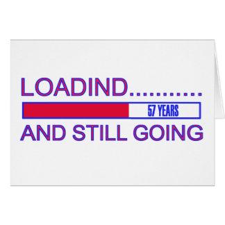57 YEARS OLD BIRTHDAY DESIGNS CARD