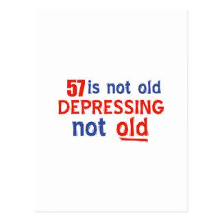 57 years Old birthday designs Postcard