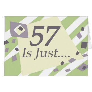 57th Birthday Card