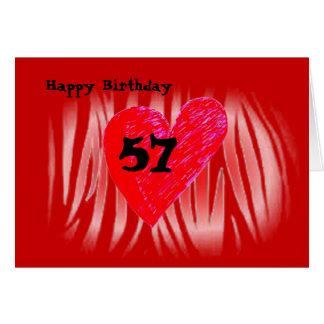 57th Birthday Greeting Cards
