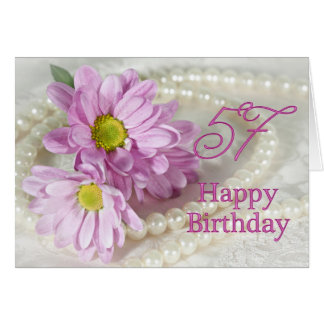 57th Birthday card with daisies