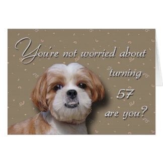57th Birthday Dog Card