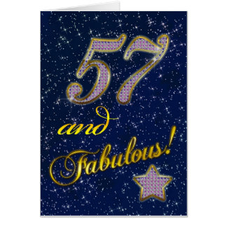 57th birthday for someone Fabulous Cards