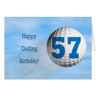 57th birthday golfing card
