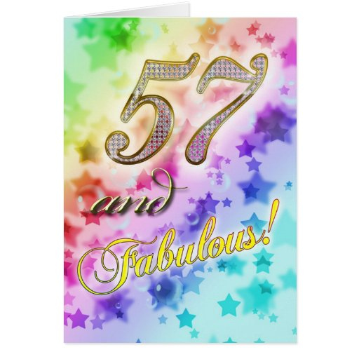 57th Birthday party Invitation Greeting Cards