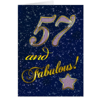 57th Birthday party Invitation Card
